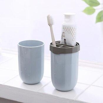 2 piezas de viaje cepillo de dientes taza organizador taza de lavado...