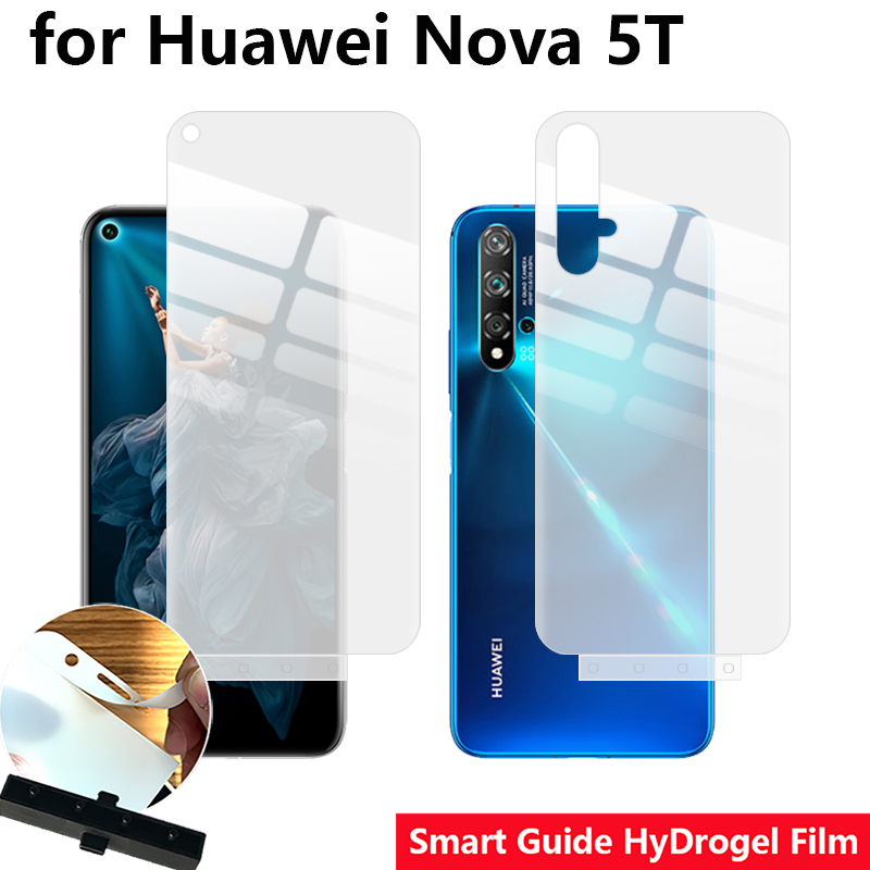 Smart Guide Tool Soft AUTO Fixed Hydrogel Film Full Screen Protector For Huawei Nova 5T/Honor 20 Optional Front & Back
