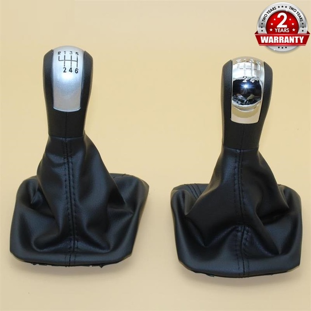 For Skoda Octavia 2 A5 A6 2004 2005 2006 2007 2008 2009 2010 2011 2012 2013 5 / 6 Speed Gear Lever Stick Shift Knob Leather Boot