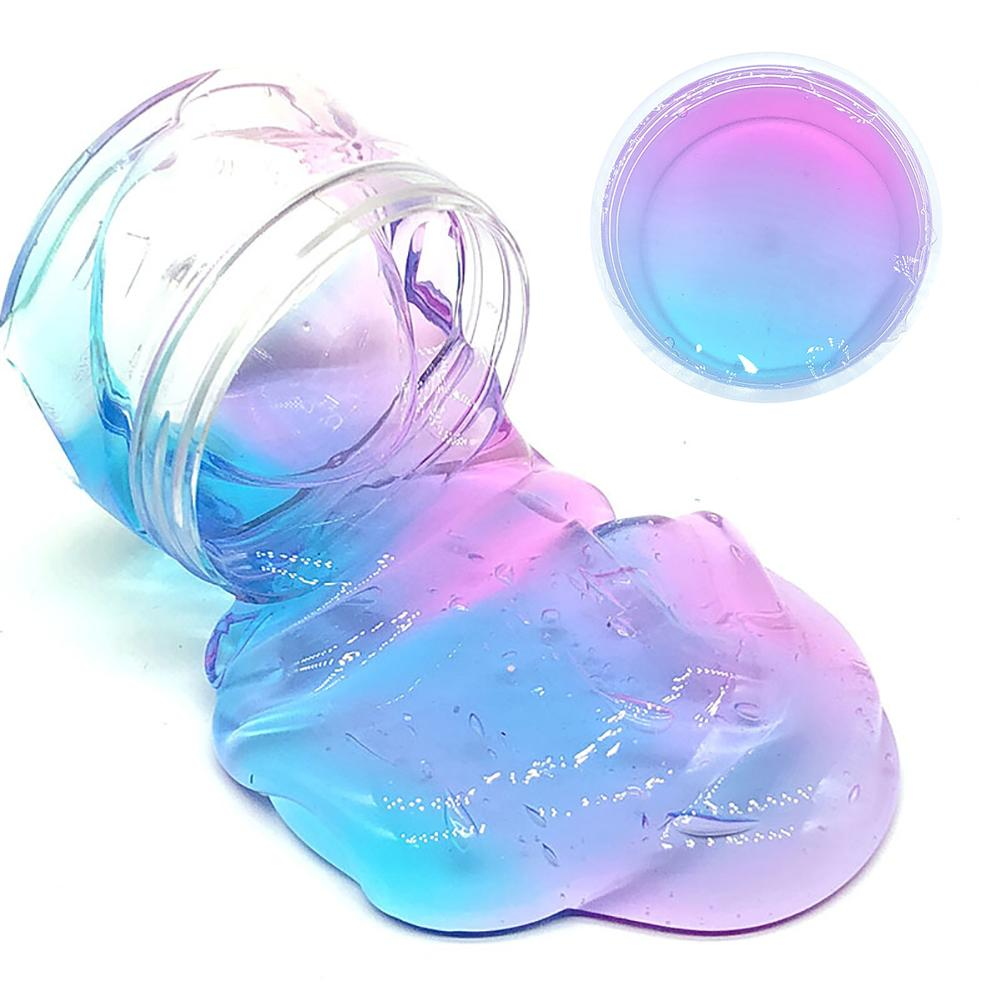 Multicolor Clear Crystal Slime Squishies Clay Filler Clear Slime Box Toys For Children Stretchy Clay Stress Relieve Kids Toy