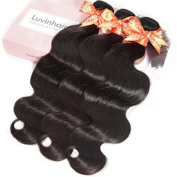 Luvin OneCut Hair Body Wave 8-34 Peruvian Virgin Hair 3 Bundles Lots 100% Human Hair Weave Bundles Hair Extension Remy Hair