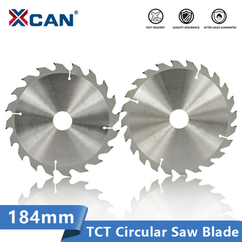 цена на XCAN Circular Saw Blade 184mm Carbide Tipped Saw Blade For Wood Cutting 20 24 40 Teeth TCT  Wood Cutting Disc