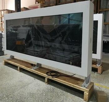 Ip65 Настенный 2000cd ЖК дисплей цифровой вывески мультимедийный плеер для рекламных сообщений 65 дюймов с ПК Встроенный монитор