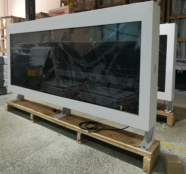 Ip65 Wall Mounted 2000cd Lcd Display Digital Signage Multimedia Advertising Player 65 Inch With Pc Buit In Screen Monitor