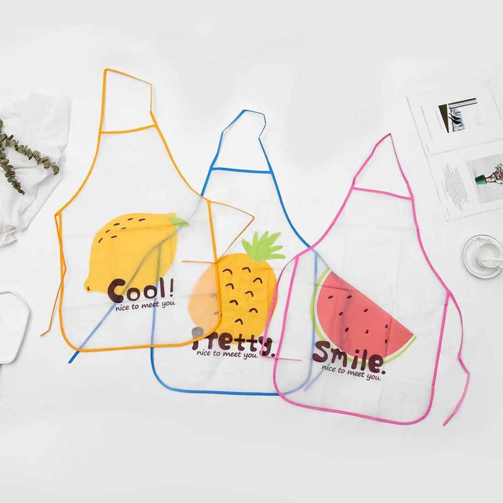 الفاكهة نموذج البولي فينيل كلوريد مآزر للخبز الطبخ الخصر مريلة اكسسوارات المطبخ أكمام مقاوم للماء مكافحة النفط مآزر أدوات شواء