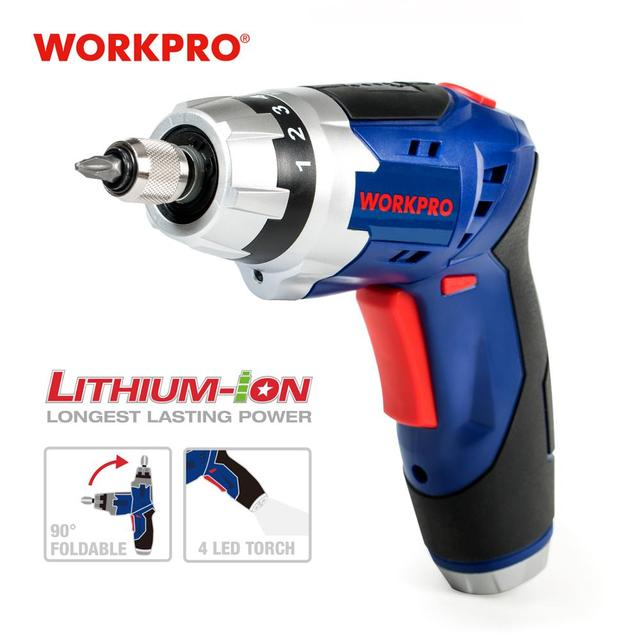 WORKPRO 3.6V USB Cordless Electric Screwdriver Household Power Screwdriver Rechargeable Li ion Screwdriver