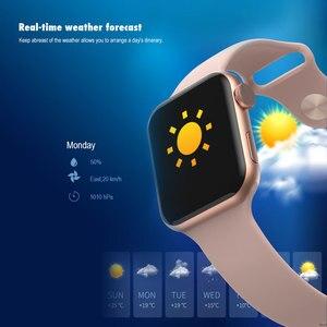 Image 5 - VERYFiTEK F10 akıllı saat nabız monitörü kan basıncı spor bilezik izle kadın erkek Smartwatch PK B57 P80 P70 IWO 8 9