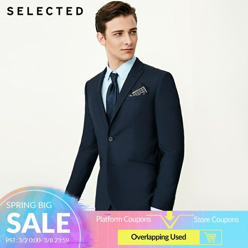 選択された男性の純粋な色スリムフィットブレザー通常の営業服 T | 41835X501