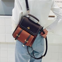 Women Backpack Quality Vintage Leather Preppy Female Backpack Little Bee School College