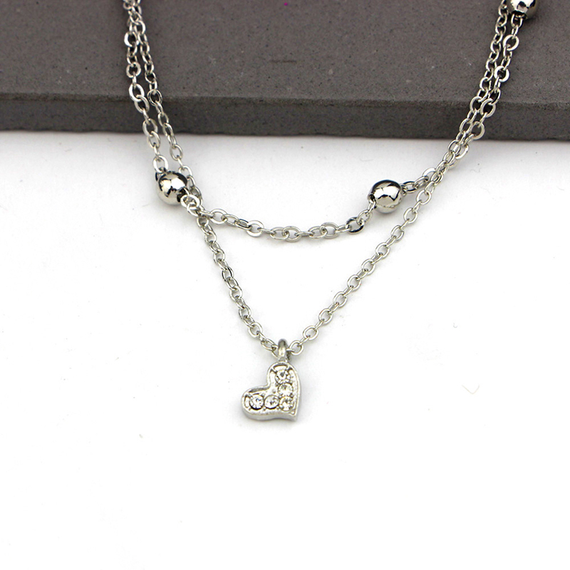 Simple Heart Ankle Layering Pendant Anklet Foot Jewelry 2019 Summer Beach Anklets On Foot Ankle Bracelets For Women Leg Chain
