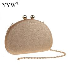 YYW Sequined Evening Clutch Bag Ladies Elegant Party Luxury Clutches WomenS With Chain Shoulder Purse Gold Champagne