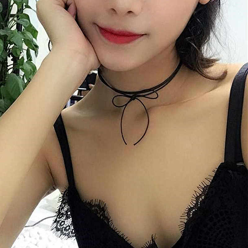 2019 nowe gorące style Bijoux miłość Vintage trójkąt geometria tatuaż Waterdrop obojczyk Choker naszyjniki dla damski łańcuszek biżuteria
