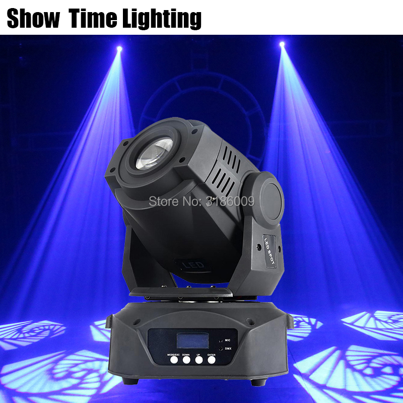 Show Time 90W LED Gobo Moving Head With 3 Prism 8 kinds colors images Spot Light DJ Party Disco wedding Moving heads Light in Stage Lighting Effect from Lights Lighting