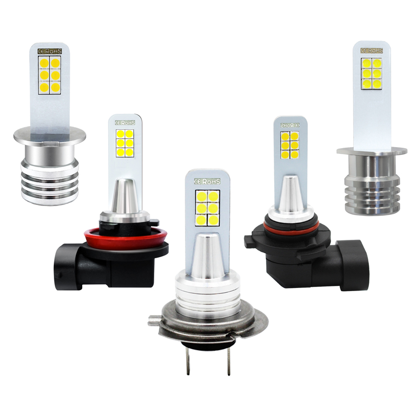 Bulb Fog-Lamp Car-Fog-Lights Auto 6000K H3 H1 H8 HB4 LED DRL H7 2x 1200LM 9006 12-3030smd