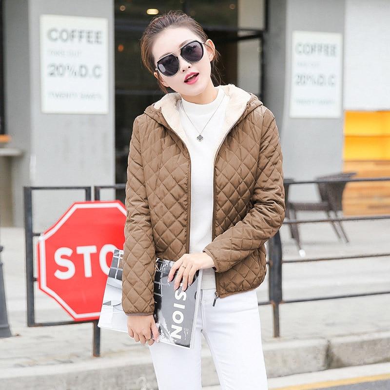 H5777c15d8d78477d84073d667bf402e5X Vangull New Spring Autumn Women's Clothing Hooded Fleece Basic Jacket Long Sleeve female Coats Short Zipper Casual Outerwear