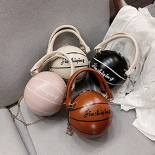 Hand-Bag Basketball Personality Tote Messenger-Bag Chains Shoulder Round Small Female
