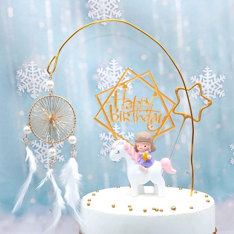День рождения украшение Ловец снов торт Топпер перо Торт Топпер выбор топперы с пером для свадебного декора