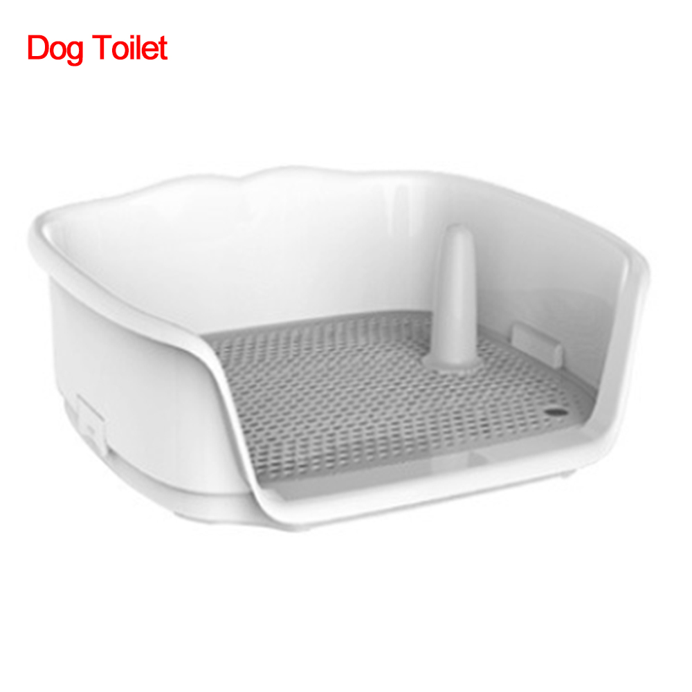 Portable Dog Toilet Cat Dog Automatic Potty With Column Urinal Bowl Pee Training Toilet Lavatory Basin Flushing Pet Dog Supplies