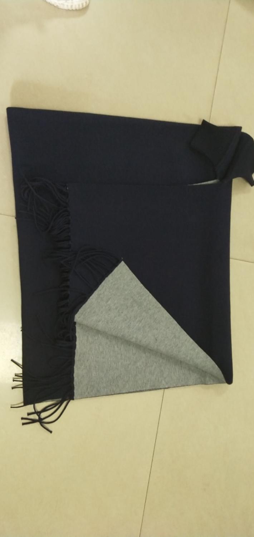 SC2 большой шарф Зимний вязаный пончо женский однотонный дизайнерский плащ женский длинный рукав летучая мышь пальто винтажная шаль - Цвет: Navy Blue With Grey