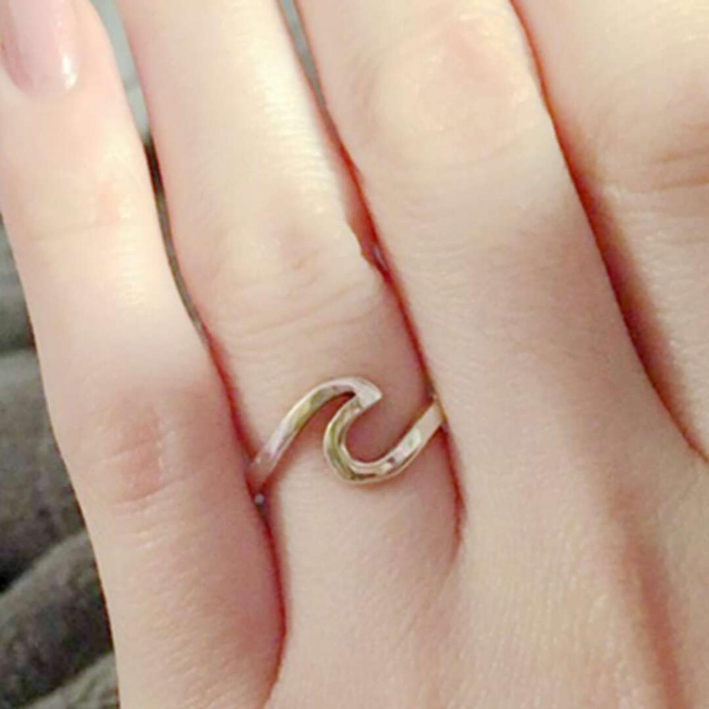 Женское кольцо с морской волной, золотистое/серебристое кольцо из сплава для серфинга, ювелирное изделие в подарок 2