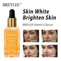 BREYLEE Vitamin C Bleaching Serum Erhellen Haut Gesicht Hautpflege Verblassen Dunkle Flecken Sommersprossen 100% Natürliche Zutaten Anti-aging serum