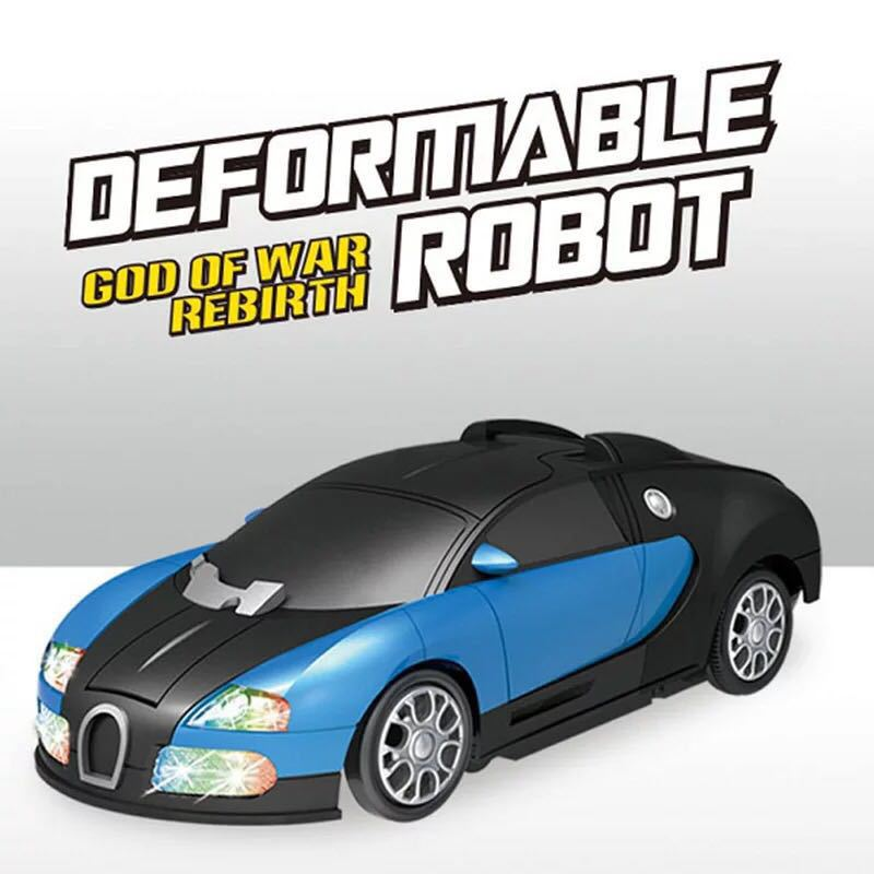 Children Electric Transformer Hot Selling Light And Sound Universal Deformation Robot Toy Car