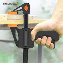 2 pçs 4/6/8/10/12 Polegada velocidade de liberação clipe squeeze madeira trabalho barra f braçadeira clipe kit espalhador gadget ferramentas diy ferramenta mão