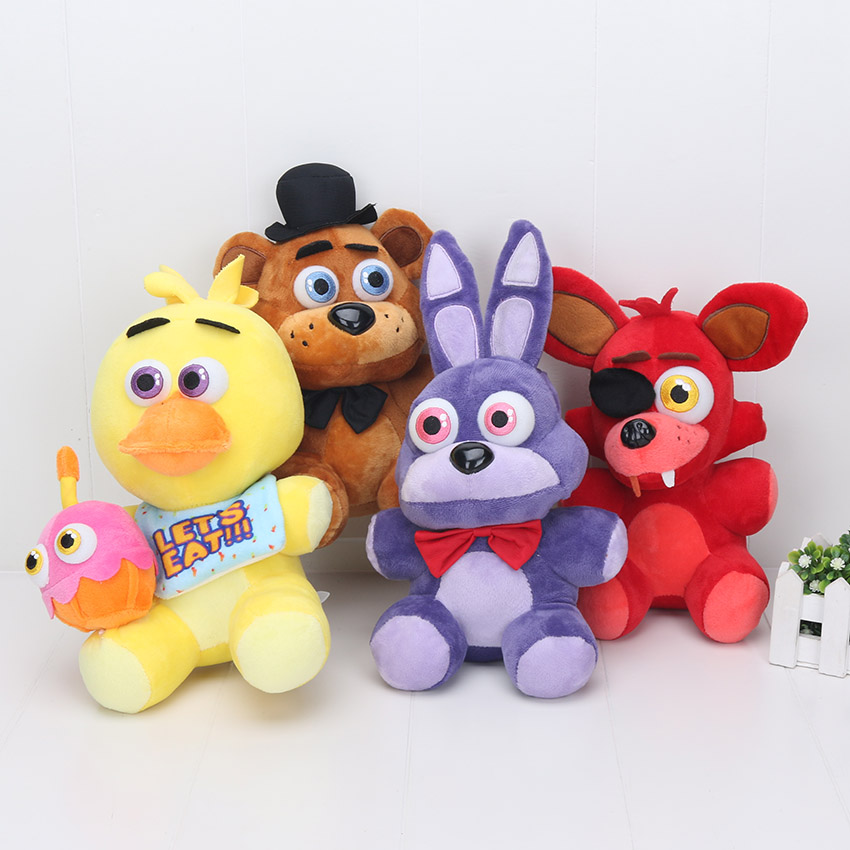 25 Cm FNAF Toys Five Nights At Freddy Plush Toy Freddy Bear Foxy  Toys Children Gift Toys