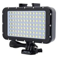 Luz LED de Flash de alta potencia Ultra brillante, 50M, resistente al agua, para Gopro, Canon, SLR, lámpara de relleno, montaje de luces de vídeo de buceo