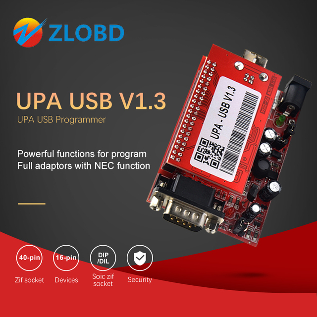 UPA Usb with 1.3 eeprom adapter ECU Programmer Diagnostic tool UPA USB ECU Programmer UPA USB V1.3 With Full Adapter UPA
