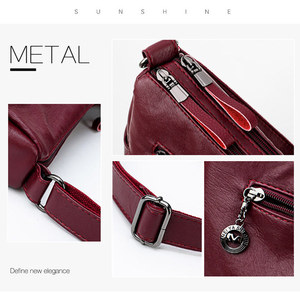 Image 4 - Designer Luxury Ladies Handbags Female Crossbody Bags for Women 2019 Soft Leather Shoulder Messenger Bags for lady Sac A Main