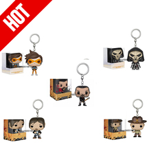 POP Keychain WALKING DEAD REAPER DOCTOR WHO TRACER DEGAN withbox Vinyl Figure Toys Collection model toy for children