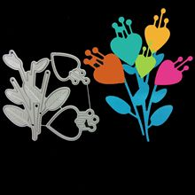Heart Love Flower heart bouquets Metal Cutting Dies for DIY Scrapbooking Album Paper Cards Decorative Crafts Embossing Die Cuts