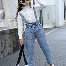 Denim Overalls Jeans Jumpsuits Clothing Rompers Teenage Girls Children Pants Big