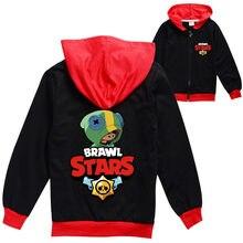 Brawling estrelas casaco das crianças dos desenhos animados primavera outono zip cardigan casaco selvagem luta queda roupas adolescentes meninos meninas roupas presente
