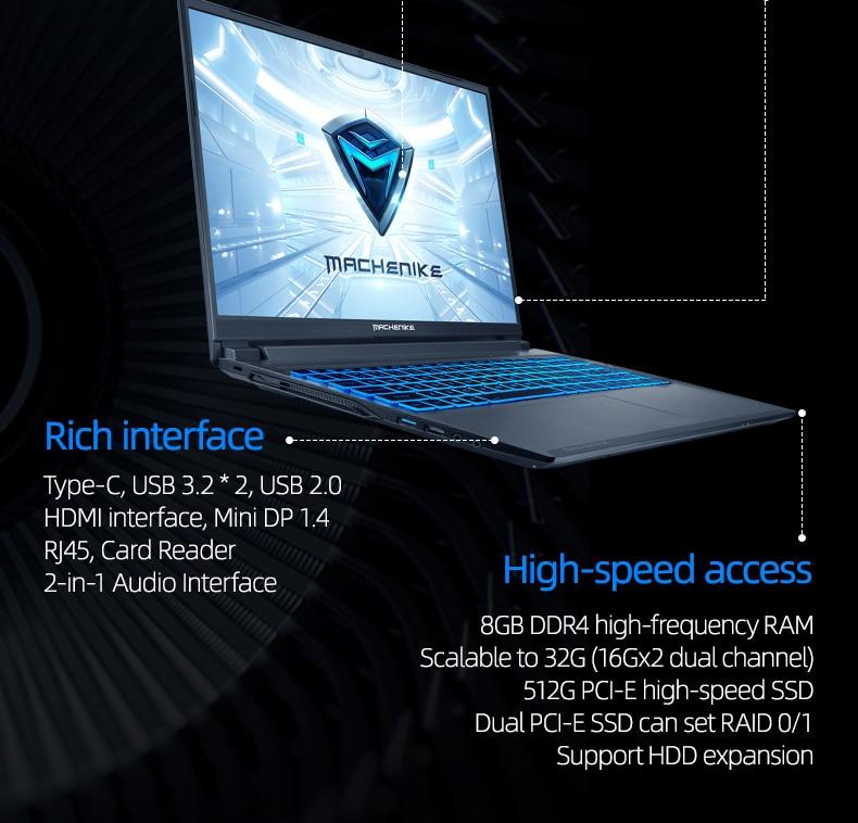 Machenike T90 T58 Gaming Laptop intel i7 10th Gen  10