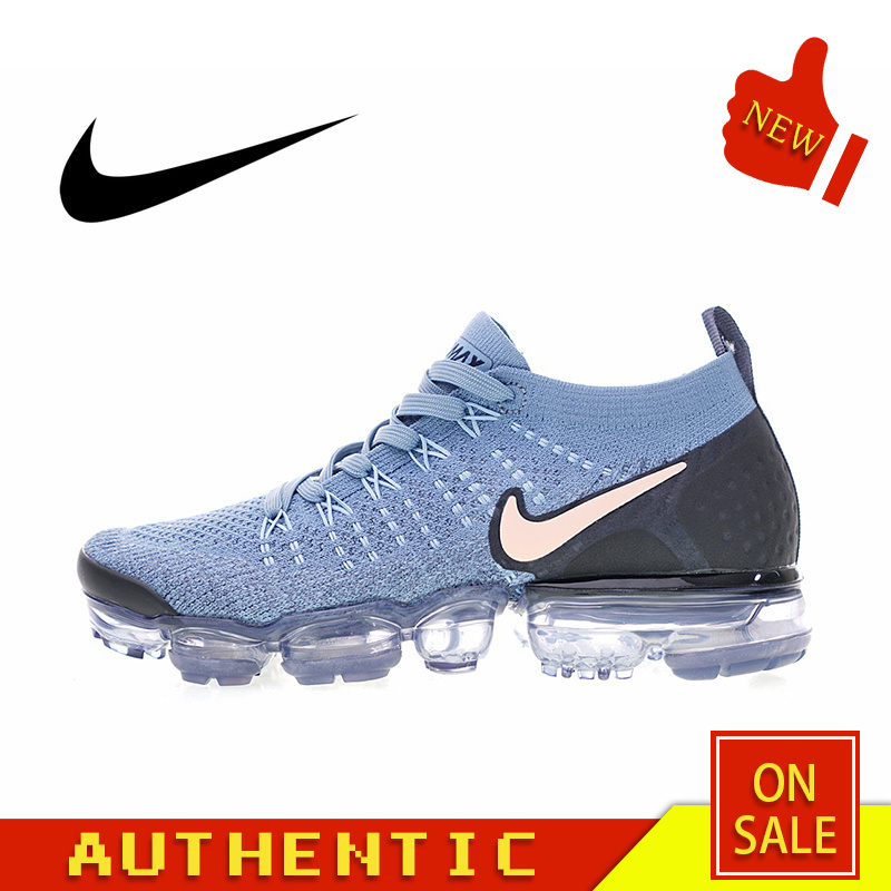 Original Authentic NIKE Air Max Vapormax Flyknit Women's Running Shoes Outdoor Sports Classic Breathable 2019 New 942843-401