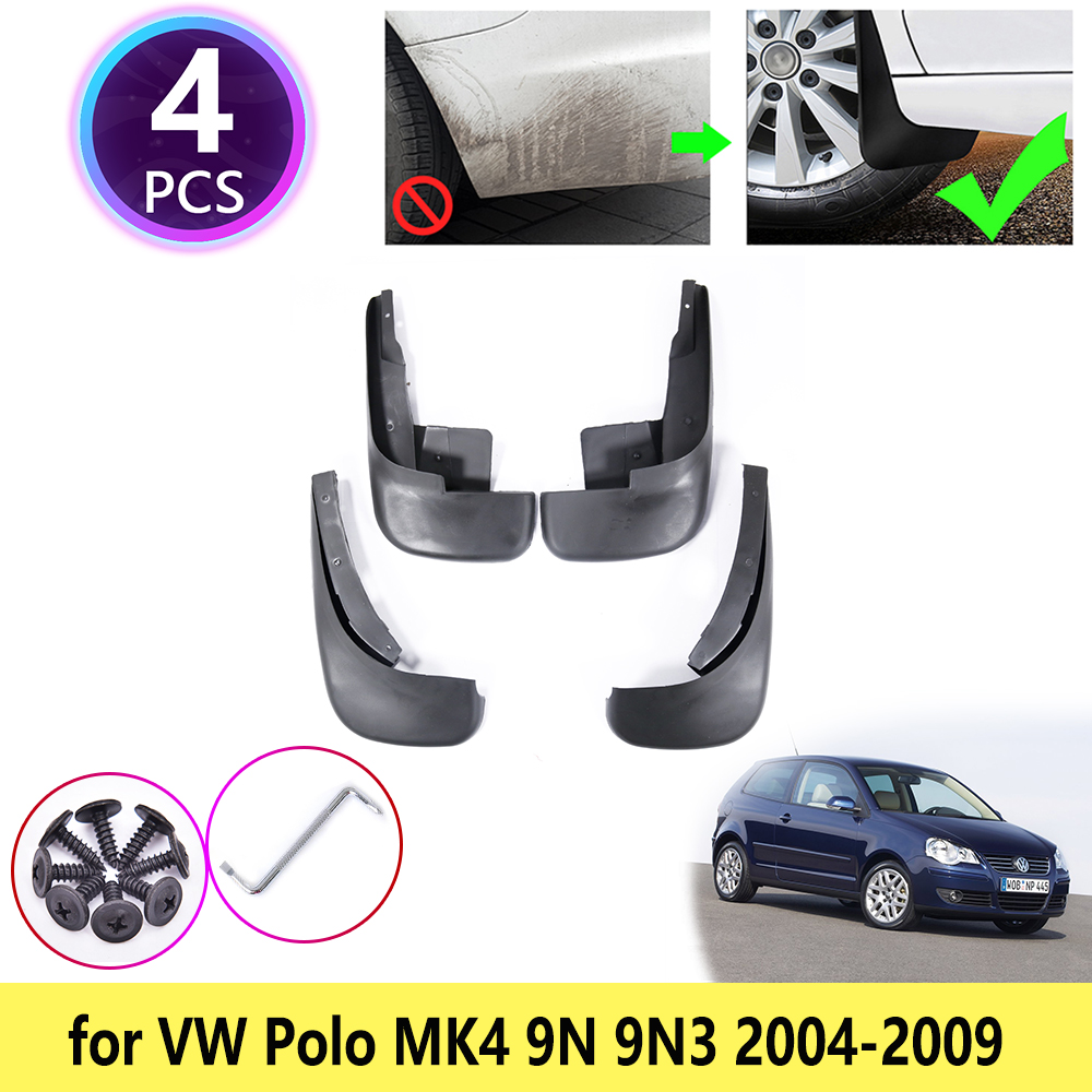 Rubber Moulded Universal Fit Car MUDFLAPS Mud Flaps Fits VW Polo MK5
