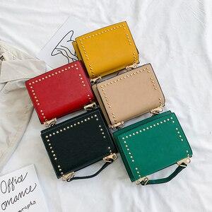 Image 3 - Luxury Handbags Women Bag Designer Crossbody Bags Small Rivet Double Sided Open Shoulder Messenger Bag Women Purses Black Tote