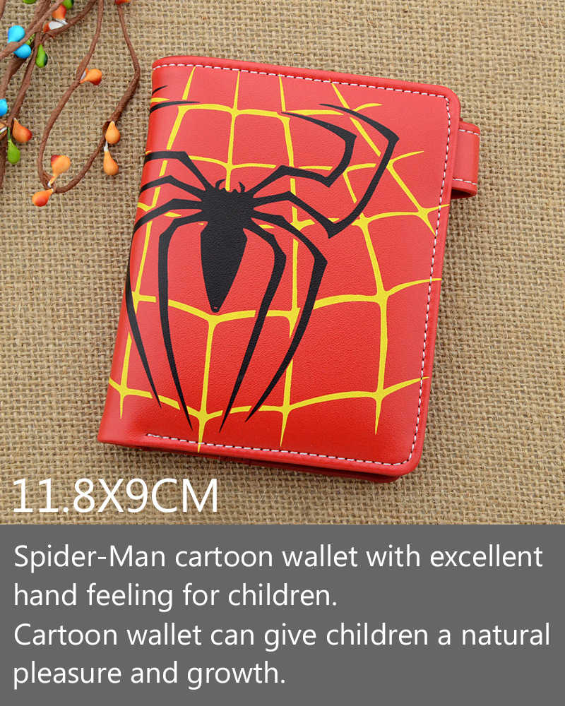 2019 New Avengers Spider-Man Children's Wallet Spider-Manbag Cartoon Wallet Short Spider-Man Christmas Birthday Gift Wallet Bags