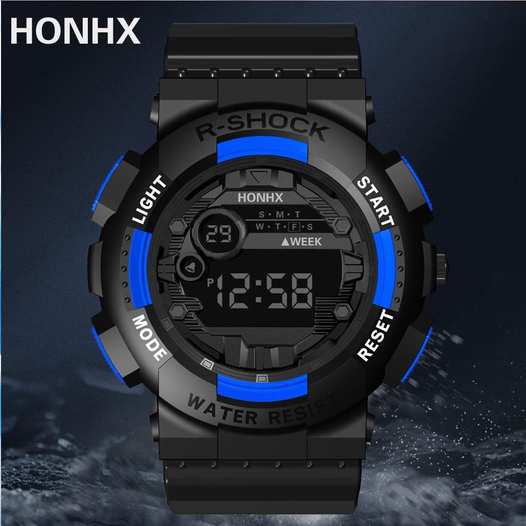 HONHX Luxury Electronic Watch Mens 3Bar Waterproof Digital LED Luminous Display Calendar Sport наручные часы Alarm Wrist Watch