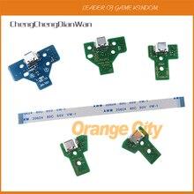 50 conjuntos novo 12 pin 14 pin usb porto de carregamento soquete placa de circuito com cabo JDS 001 011 030 040 050 para ps4 controlador