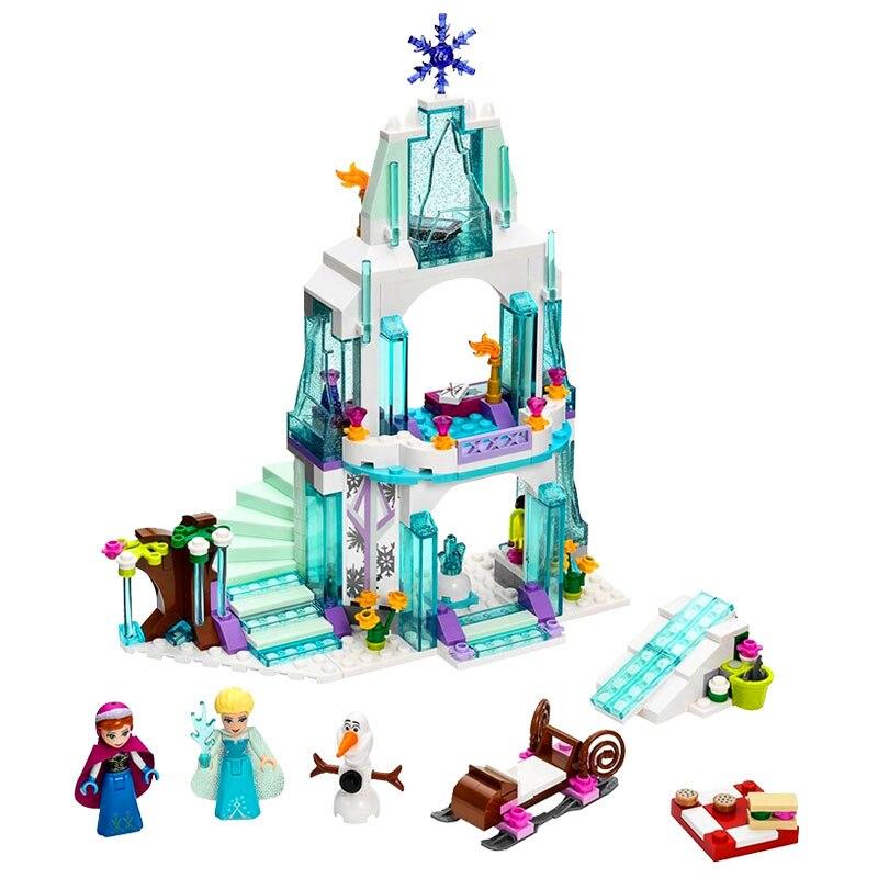 JG301 Snow Queen Anna Elsa Princess Ice Castle Building Blocks Brick  79168 Toys