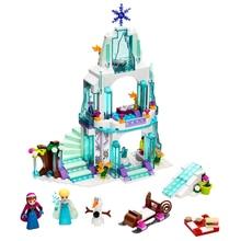 JG301 Snow Queen Anna Elsa Princess Ice Castle Building Blocks Brick  79168 Toys стоимость