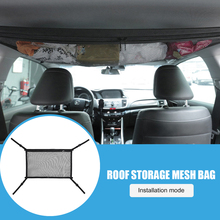 8kg Ceiling Storage Net Auto Interior Supplies Easily Installation Capacity Car Travel Pocket Personal Car Elements