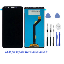 цена на LCD for infinix Hot 6 X606 LCD with Touch Display for infinix Hot 6 Screen with Digitizer Repair 6.0 inch