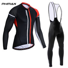 PHMAX Pro Cycling Jersey Set Mountain Bicycle Cycling Clothing MTB Bike Cycling Clothes Suit Bike Sportwears Ropa Ciclismo