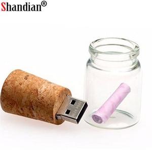 Image 3 - SHANDIAN 100% Hàng Mới Về Sứ Giả Bình nhớ USB Kính trôi bình ổ đĩa flash USB srong đóng gói Miễn Phí tùy chỉnh logo