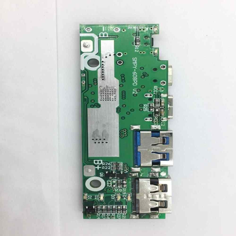 LEORY 20000mA housse de batterie portative 18W QC3.0 PD Type C double USB 18650*8 boîtier de batterie charge rapide pour iPhone 11 Xiaomi (pas de batterie)