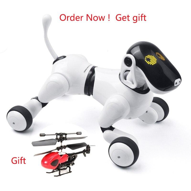 Control remoto inteligente electrónico perro 1803 RC Robot perro inalámbrico inteligente que habla electrónico mascota niños juguetes cumpleaños regalo de Navidad
